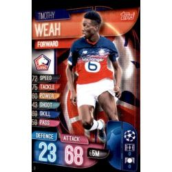 Timothy Weah LOSC Lille LIL 9 Match Attax Champions 2019-20