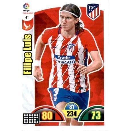 Filipe Luis Atlético Madrid 41 Cards Básicas 2017-18