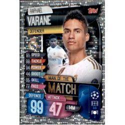 Raphael Varane Man Of The Match Real Madrid M REA Match Attax Champions 2019-20