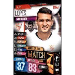 Rony Lopes Man Of The Match Sevilla M SEV Match Attax Champions 2019-20