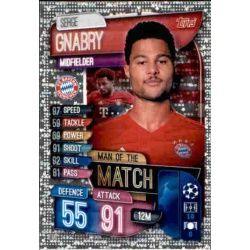 Sergi Gnabry Man Of The Match Bayern Munich M BAY Match Attax Champions 2019-20