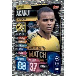 Manuel Akanji Man Of The Match Borussia Dortmund M BOR Match Attax Champions 2019-20