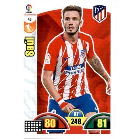 Saúl Atlético Madrid 43 Cards Básicas 2017-18