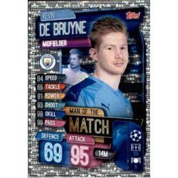 Kevin De Bruyne Man Of The Match Manchester City M MCY Match Attax Champions 2019-20
