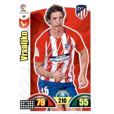 Vrsaljko Atlético Madrid 49 Cards Básicas 2017-18