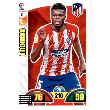 Thomas Atlético Madrid 51 Cards Básicas 2017-18