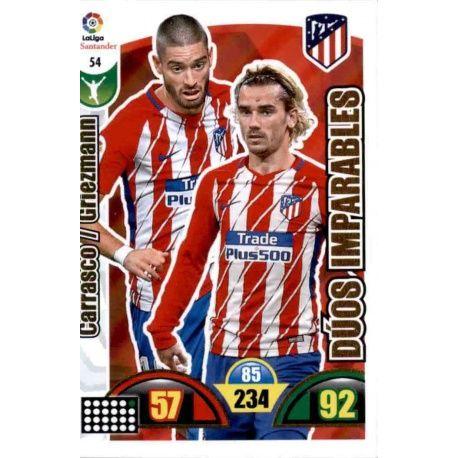 Carrasco / Griezmann Atlético Madrid 54 Cards Básicas 2017-18