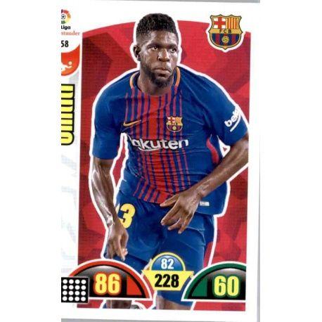 Umtiti Barcelona 58 Cards Básicas 2017-18