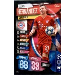 Lucas Hernández Bayern Munich BAY 7 Match Attax Champions 2019-20