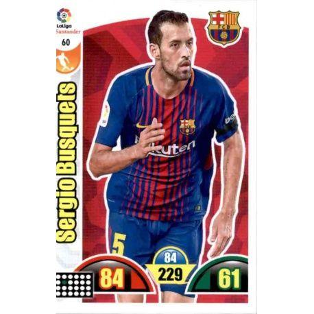 Sergio Busquets Barcelona 60 Cards Básicas 2017-18