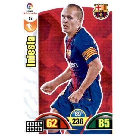 Iniesta Barcelona 62 Cards Básicas 2017-18