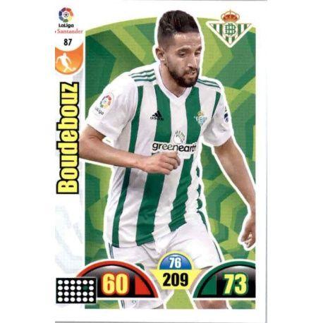 Boudebouz Betis 87 Cards Básicas 2017-18