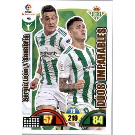 Sergio León / Sanabria Betis 90 Cards Básicas 2017-18