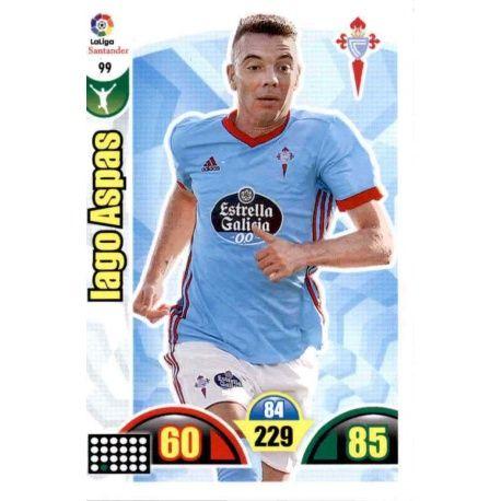 Iago Aspas Celta 99 Cards Básicas 2017-18