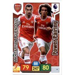 Matteo Guendouzi - Henrikh Mkhitaryan Arsenal 18 Adrenalyn XL Premier League 2019-20