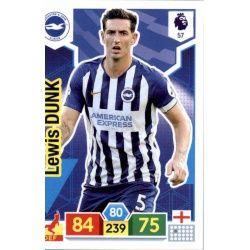 Lewis Dunk Brighton & Hove Albion 57 Adrenalyn XL Premier League 2019-20