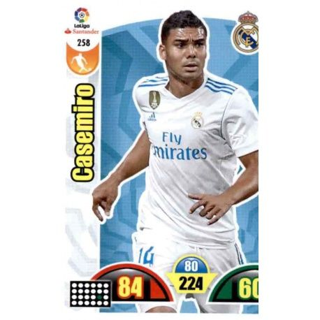 Casemiro Real Madrid 258 Cards Básicas 2017-18