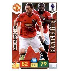 Nemanja Matic - Paul Pogba Manchester United 216 Adrenalyn XL Premier League 2019-20