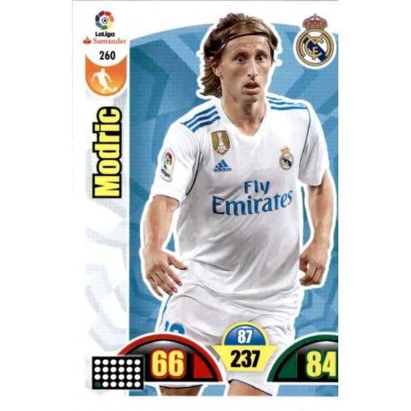 Modric Real Madrid 260 Cards Básicas 2017-18