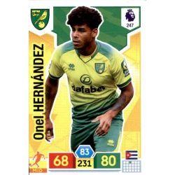 Onel Hernández Norwich City 247 Adrenalyn XL Premier League 2019-20