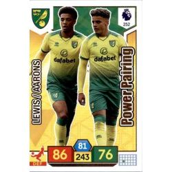 Max Aarons - Jamal Lewis Norwich City 252 Adrenalyn XL Premier League 2019-20