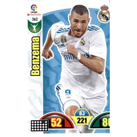 Benzema Real Madrid 262 Cards Básicas 2017-18