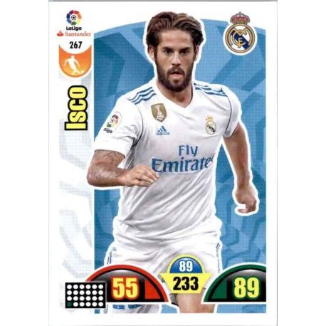 Isco Real Madrid 267 Cards Básicas 2017-18