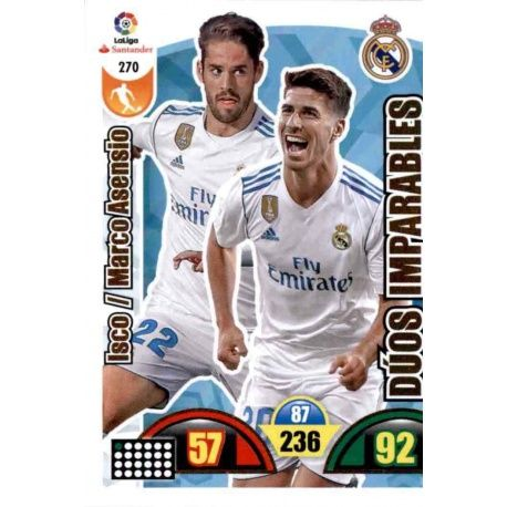 Isco / Marco Asensio Real Madrid 270 Cards Básicas 2017-18