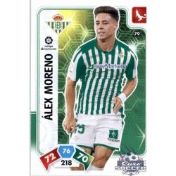 Álex Moreno Real Betis 79 Adrenalyn XL Liga Santader 2019-20