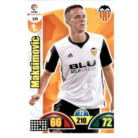Maksimovic Valencia 339 Cards Básicas 2017-18