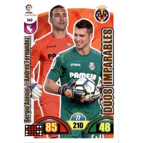 Sergio Asenjo / Andrés Fernández Villarreal 360 Cards Básicas 2017-18
