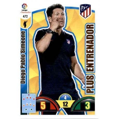Diego Pablo Simeone Plus Entrenador 472 Adrenalyn XL La Liga Update 2017-18