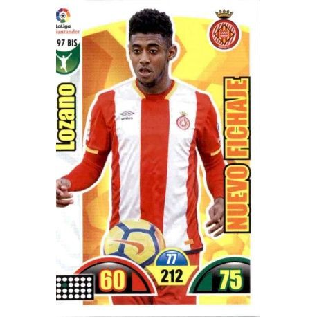Lozano Nuevo Fichaje 197 Bis Adrenalyn XL La Liga Update 2017-18