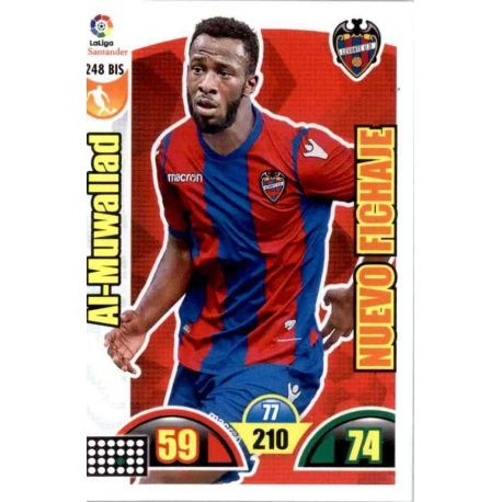 Al-Muwallad Nuevo Fichaje 248 Bis Adrenalyn XL La Liga Update 2017-18