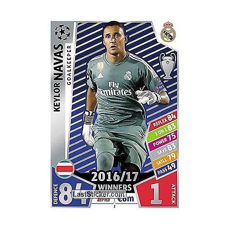 Keylor Navas Real Madrid 2 Match Attax Champions 2017-18