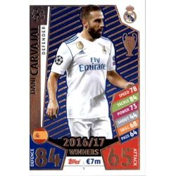 Dani Carvajal Real Madrid 3 Match Attax Champions 2017-18