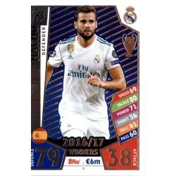 Nacho Real Madrid 5 Match Attax Champions 2017-18