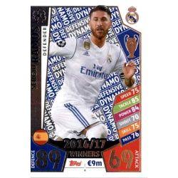 Sergio Ramos Real Madrid 6Match Attax Champions 2017-18