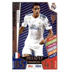 Raphaël Varane Real Madrid 7 Match Attax Champions 2017-18