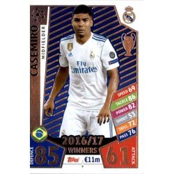 Casemiro Real Madrid 9 Match Attax Champions 2017-18