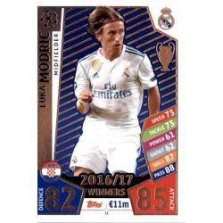 Luka Modrić Real Madrid 11 Match Attax Champions 2017-18