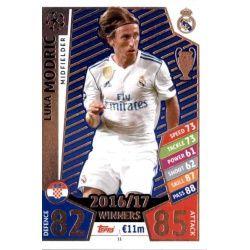 Luka Modrić Real Madrid 11Match Attax Champions 2017-18
