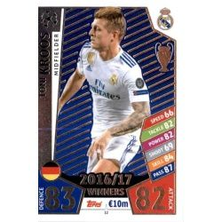 Toni Kroos Real Madrid 12 Match Attax Champions 2017-18