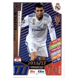 Mateo Kovačić Real Madrid 13 Match Attax Champions 2017-18