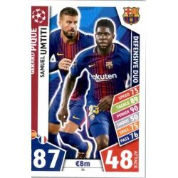 Gerard Piqué - Samuel Umtiti - Defensive Duo Barcelona 36