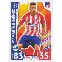 José María Giménez Atlético Madrid 42