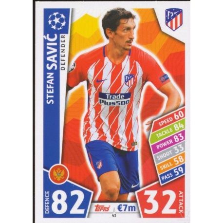 Stefan Savić Atlético Madrid 43