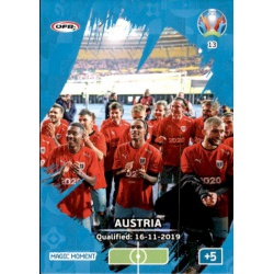 Austria Qualified Magic Moment 13 Adrenalyn XL Euro 2020