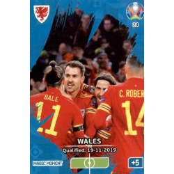 Wales Qualified Magic Moment 24 Adrenalyn XL Euro 2020