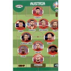 Line Up Austria 45 Adrenalyn XL Euro 2020